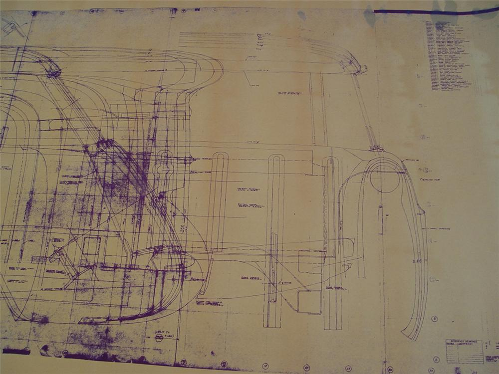 Museum quality original set of blue prints for the 1954 Chevrolet Nomad station wagon designed by Harley Earl. - Front 3/4 - 74613