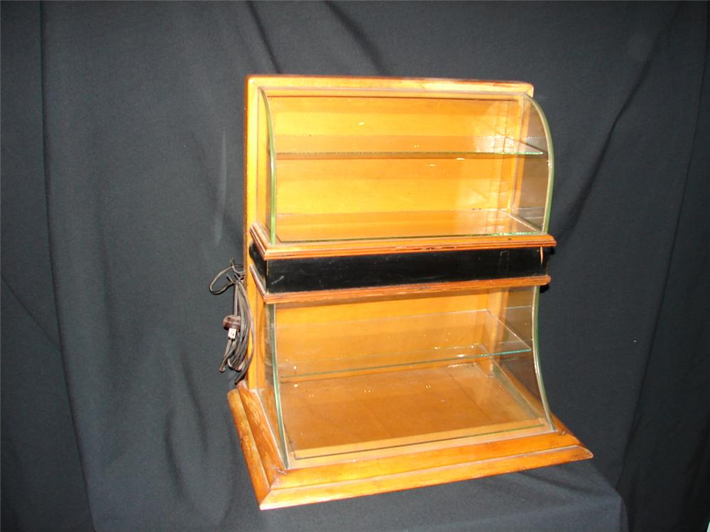 1930s General Store double-tiered counter-top showcase with lighting unit. - Front 3/4 - 74856