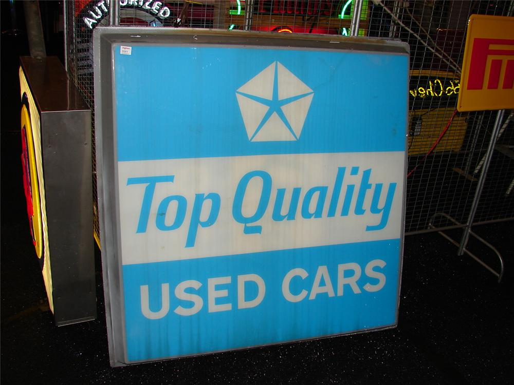 "Lot of two 1970 Chrysler-Plymouth ""Top Quality Used Cars""  sign panels - Front 3/4 - 74866"