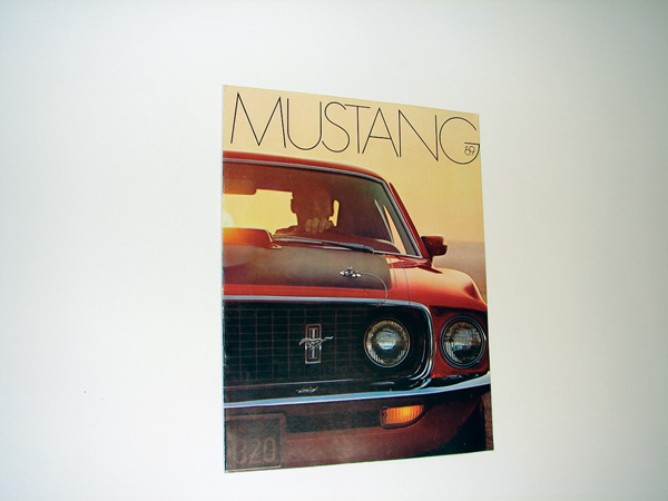 N.O.S. 1969 Ford Mustang 16 page color catalog includes Mach 1 and convertible. - Front 3/4 - 75542