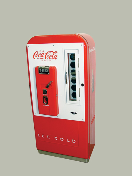 Rare fully restored Coca-Cola Vendo 39-81 conversion coin-operated soda machine. - Front 3/4 - 75580