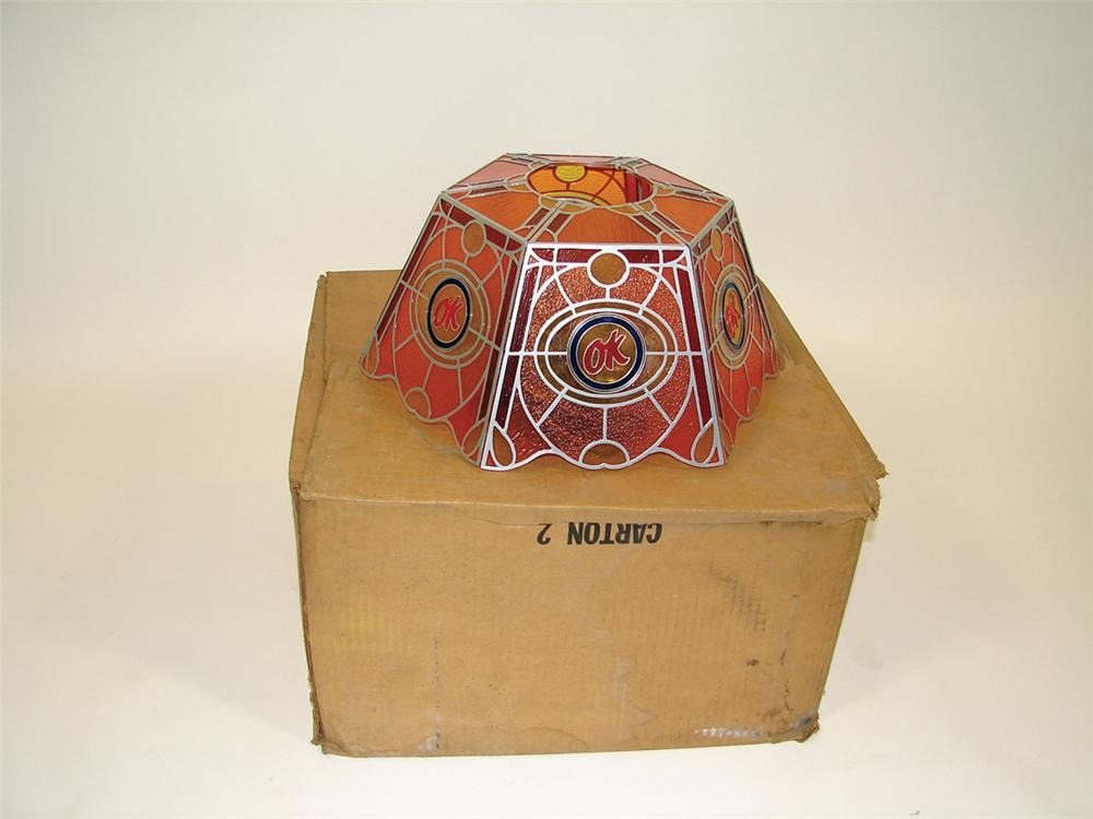 N.O.S. late 60s Chevrolet OK Used Cars light-up dealership hanging light still in the original box. - Front 3/4 - 75623