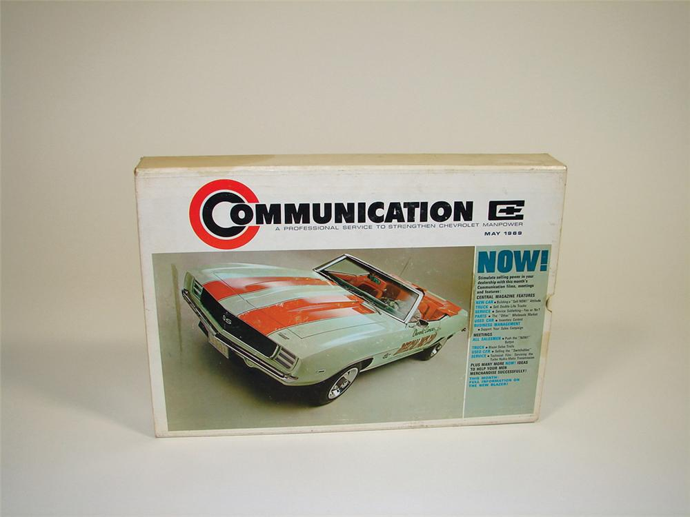 Amazing 1969 Chevrolet Dealer Communication set complete with film strips, sales and service updates, and 78 records. - Front 3/4 - 75624