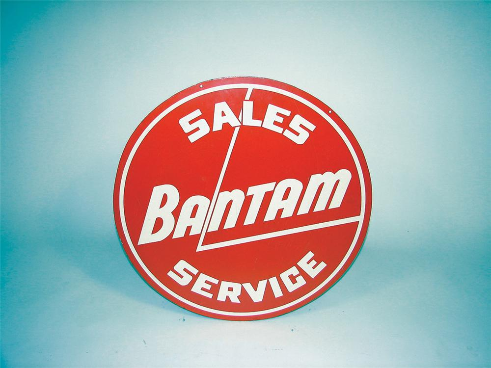 Rare 1940s Bantam Sales Service (Jeep) Masonite dealership sign. - Front 3/4 - 75634