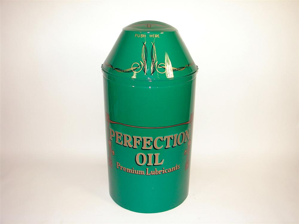 Wonderfully restored Turn of the Century Perfection Oils service station oil dispenser. - Front 3/4 - 75639
