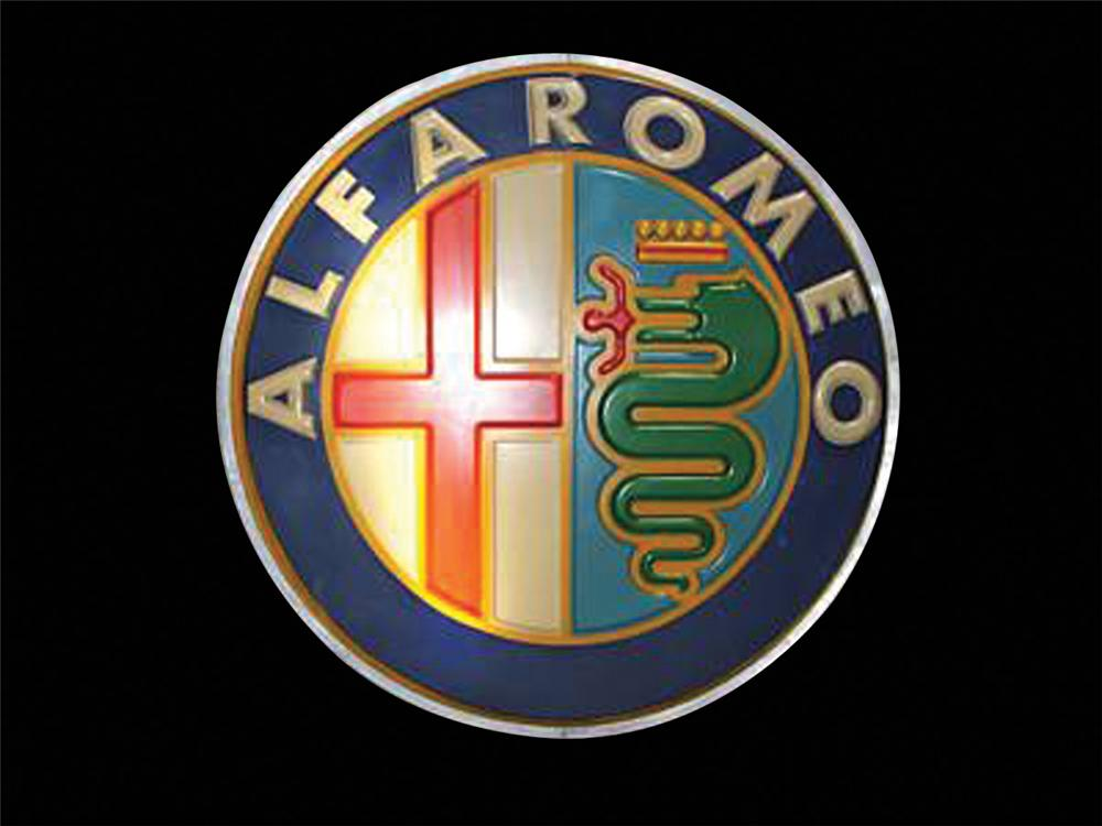 Iconic 1960s Alfa Romeo light-up dealership sign. - Front 3/4 - 75687