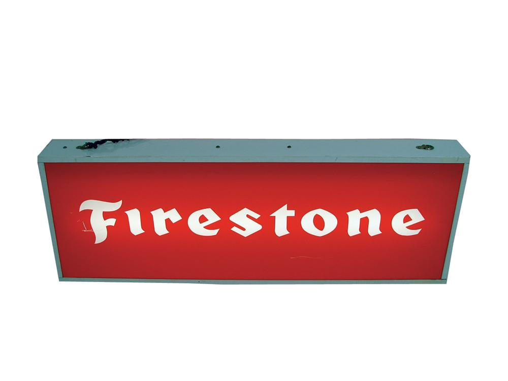 Firestone Tires light-up garage sign. - Front 3/4 - 75724
