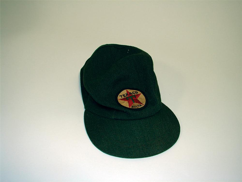 1940s-50s Texaco Service Station Attendant hat. - Front 3/4 - 75729