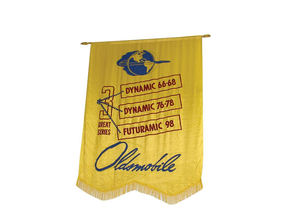 Neat late 40s Oldsmobile showroom banner. - Front 3/4 - 75749