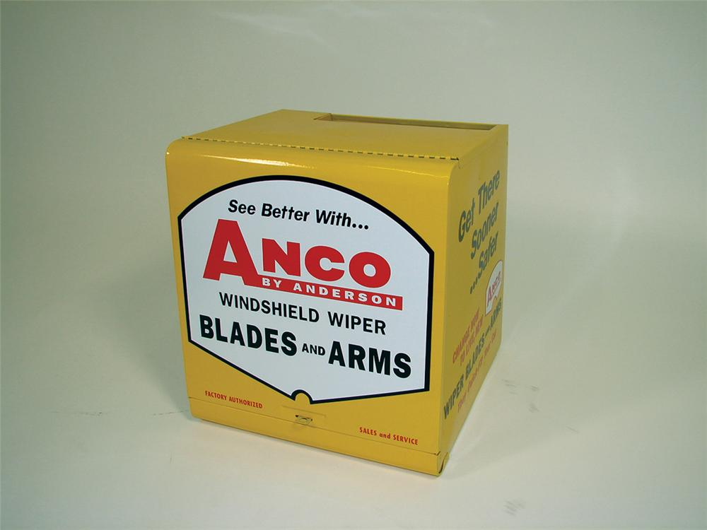 Immensely clean 1960s ANCO Wiper Blades and Arms service station display cabinet. - Front 3/4 - 75767