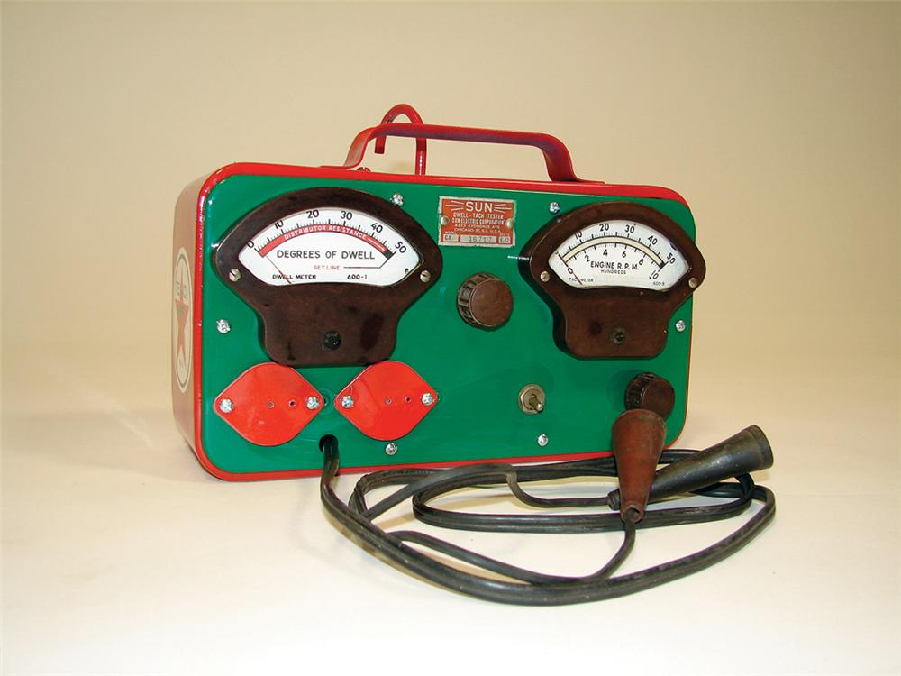 1940s Texaco Service Department Battery tester by SUN. - Front 3/4 - 75809
