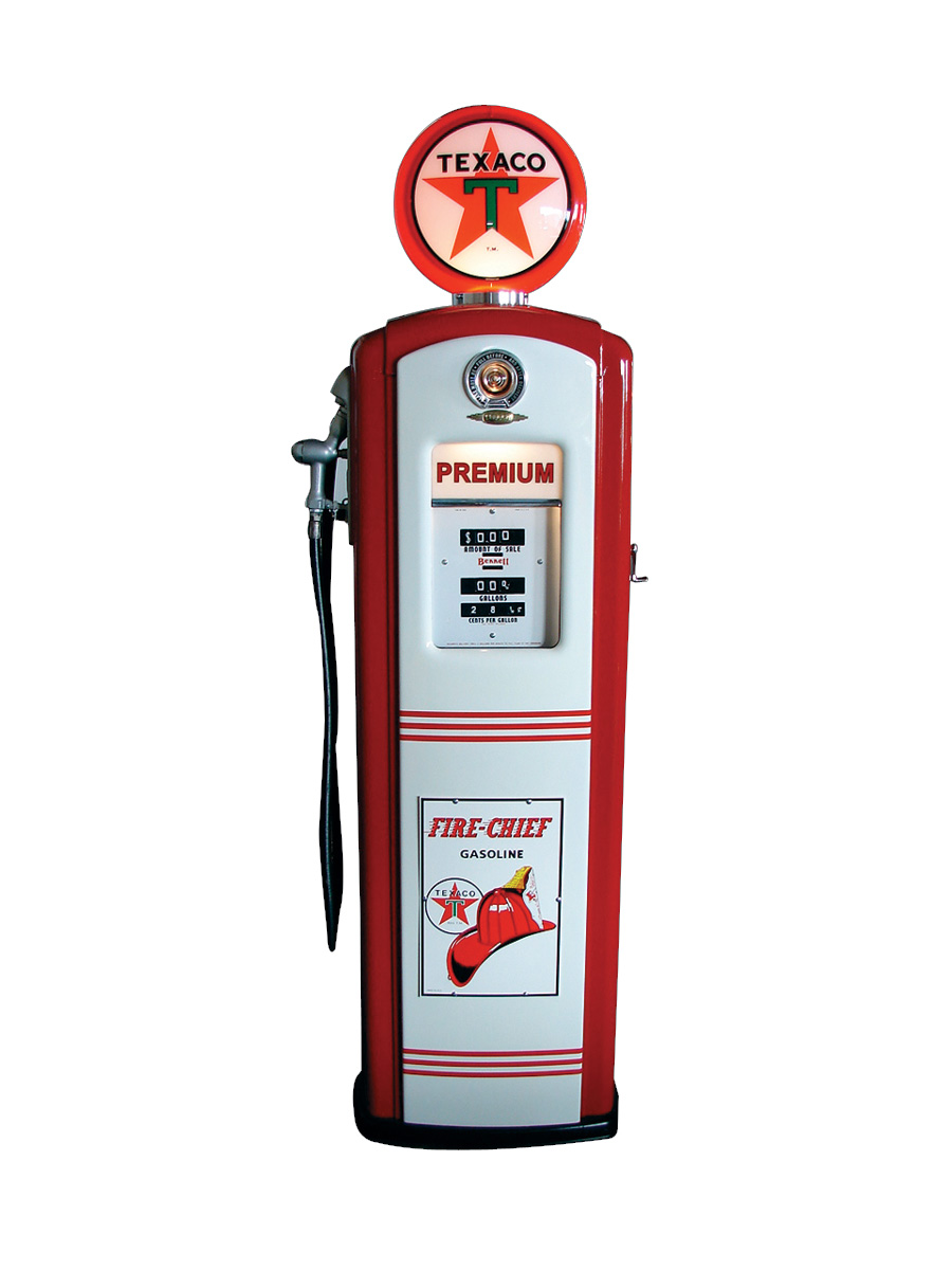 Stunning late 40s Texaco Service Station Bennett model #647 gas pump. - Front 3/4 - 75814