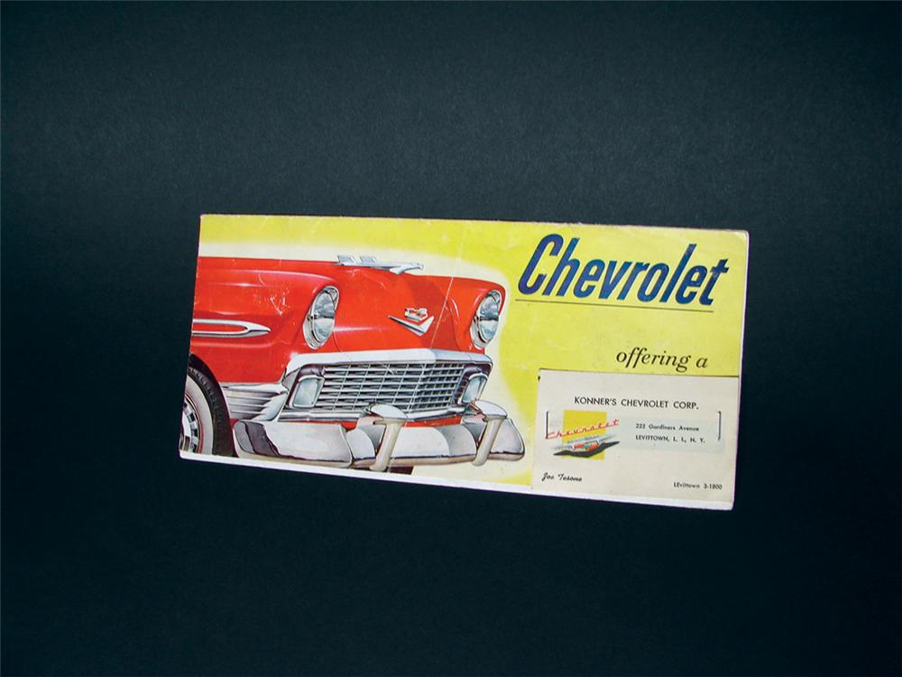 1956 Chevrolet 12 panel sales brochure. - Front 3/4 - 75838