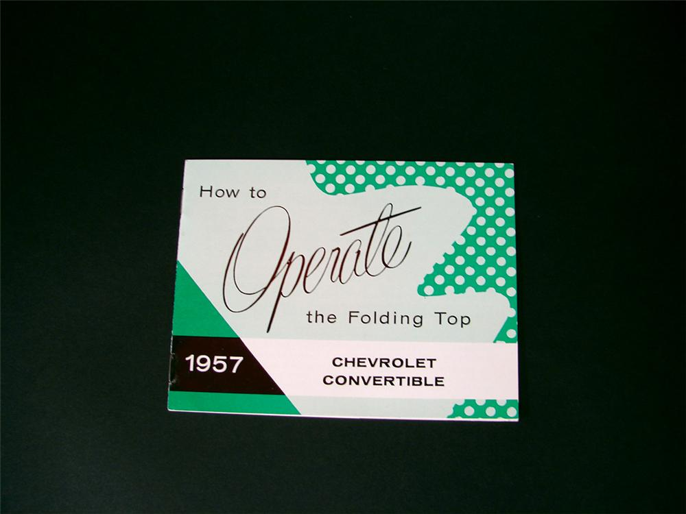 N.O.S. operational manual for the 1957 Chevrolet Convertibles. - Front 3/4 - 75839
