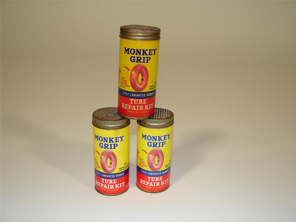 Lot of three 1940s Monkey Grip Tube Repair Kits. - Front 3/4 - 79395