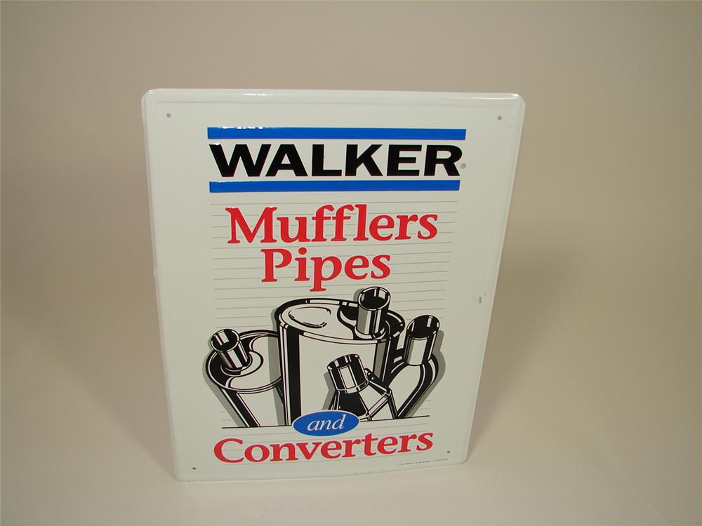 N.O.S. Walker Mufflers, Pipes and Converters single-sided tin dealership sign. - Front 3/4 - 79485