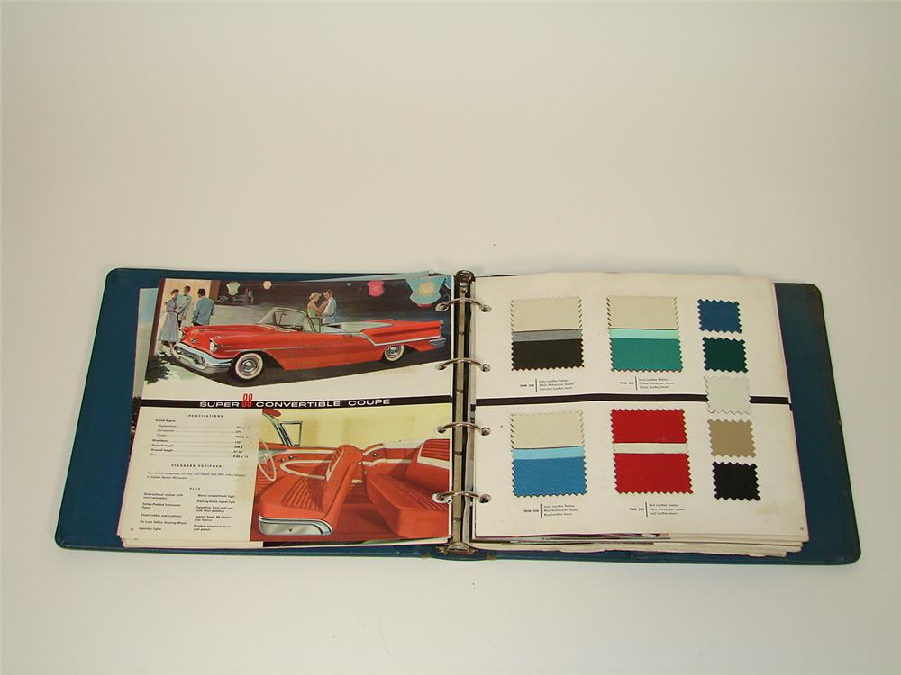 Fabulous 1957 Oldsmobile showroom sales dealer catalog. - Front 3/4 - 79494