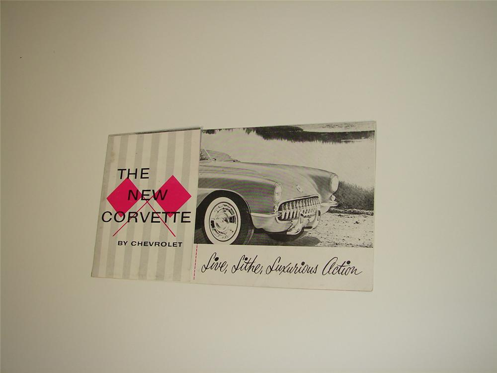 Terrific 1956 Chevrolet Corvette sales brochure. - Front 3/4 - 79507