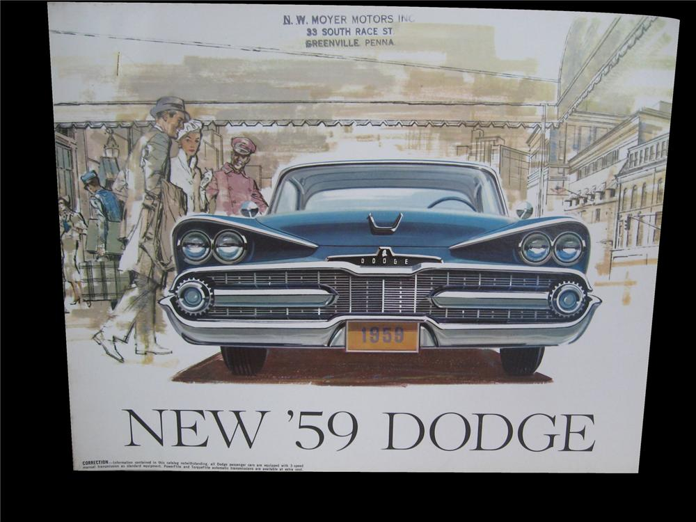 Sharp 1959 Dodge showroom color sales brochure. - Front 3/4 - 79537