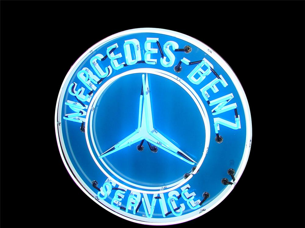Hard to find 1950s Mercedes-Benz porcelain dealership sign with neon. - Front 3/4 - 79562