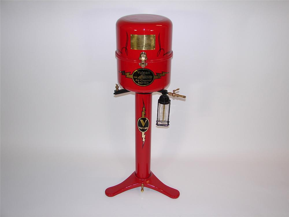 Beautiful 1930s restored Vulcan Automotive Air Cleaner Service Unit. Simply immaculate with polished brass hardware. - Front 3/4 - 81497