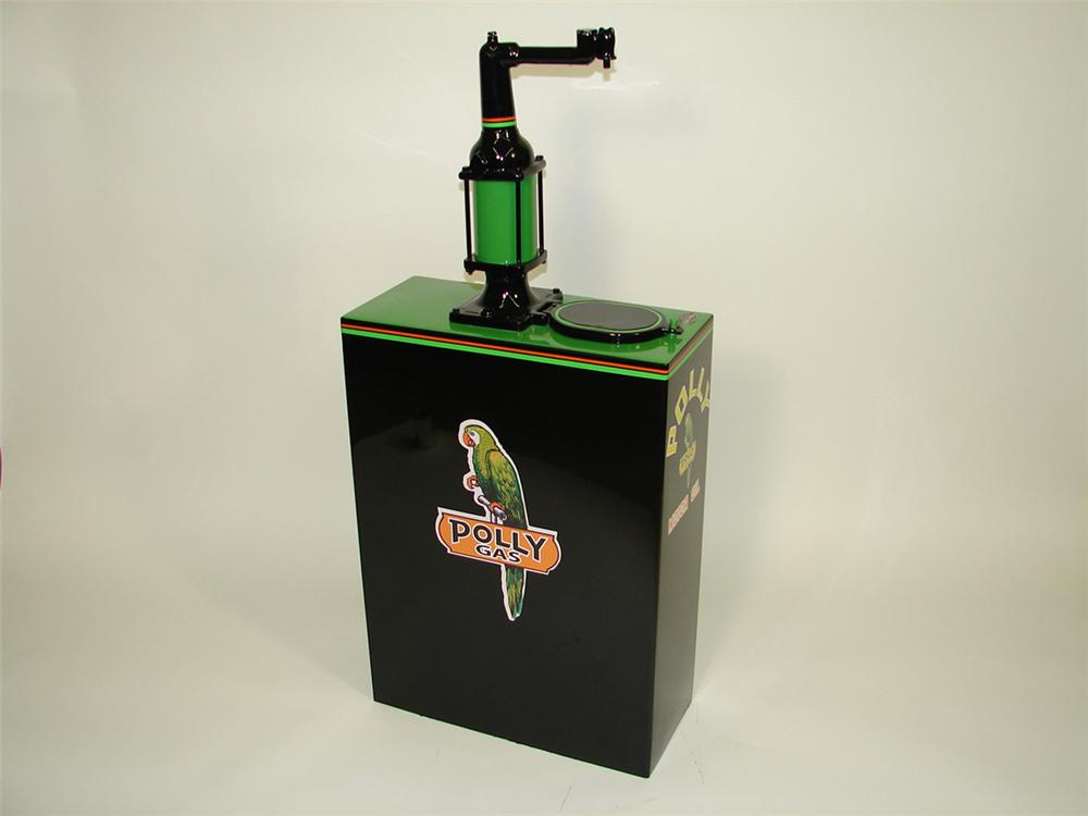 Cool 1930s Polly 30 gallon hand crank oil dispenser. Restored to perfection. - Front 3/4 - 82076