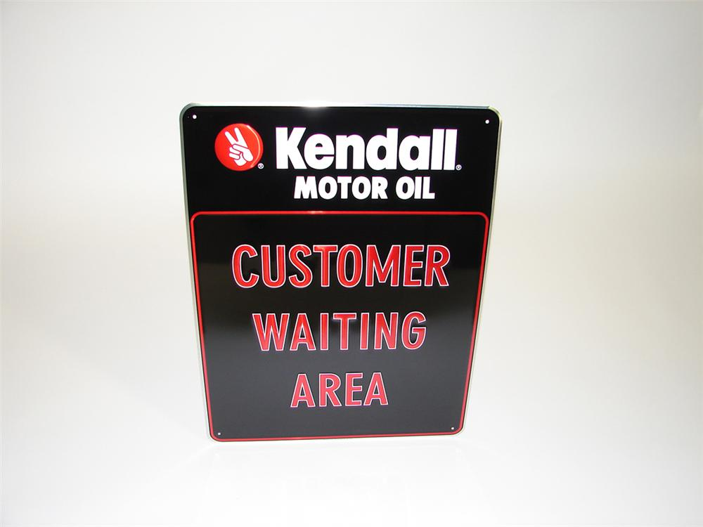 N.O.S. Kendall Waiting Area single-sided tin garage sign. - Front 3/4 - 82253