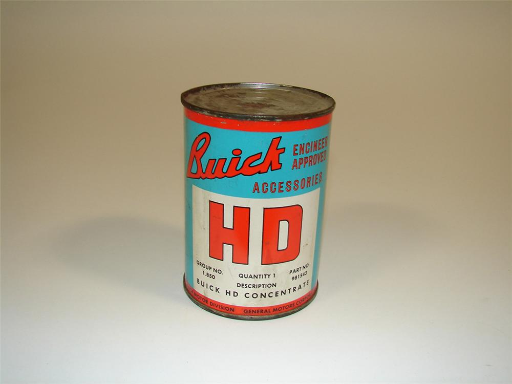 1940s Buick HD Concentrate Motor Oil metal 15 ounce tin. - Front 3/4 - 82326