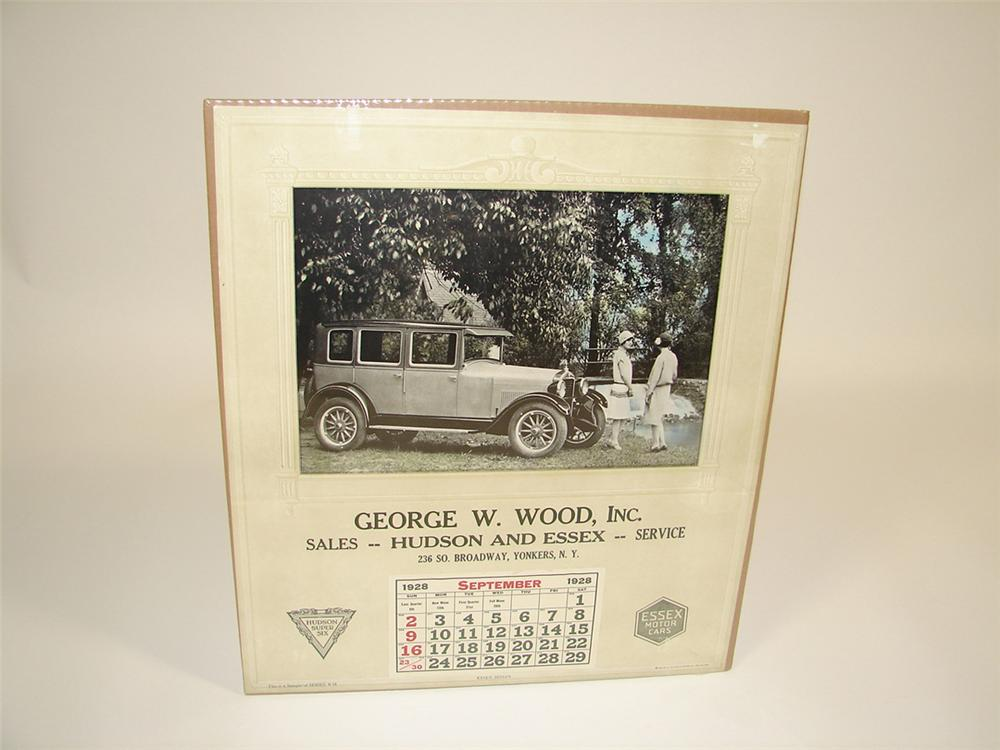 N.O.S. 1928 Hudson-Essex dealership calendar from Yonkers, New York. - Front 3/4 - 82330