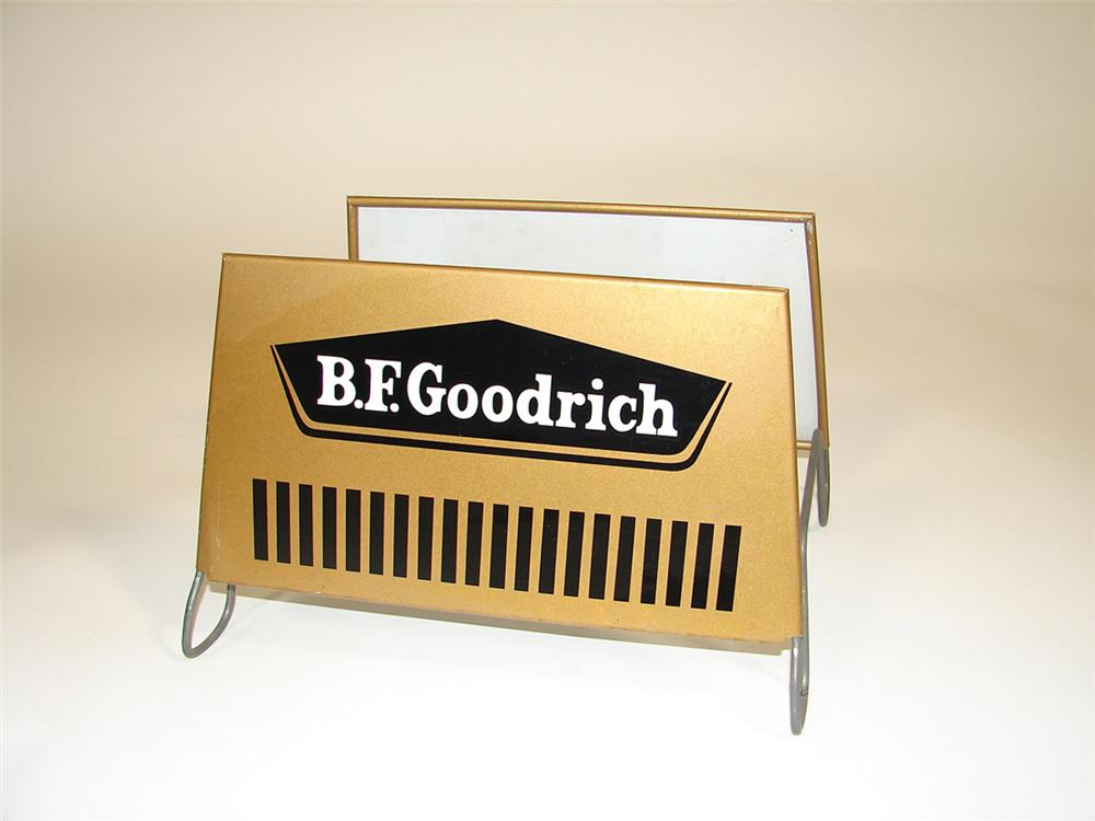 1960s BF Goodrich service garage metal tire display. - Front 3/4 - 82389