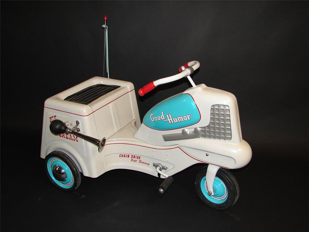Neat 1950s Good Humor Ice Cream pedal car. Beautifully restored. - Front 3/4 - 82469