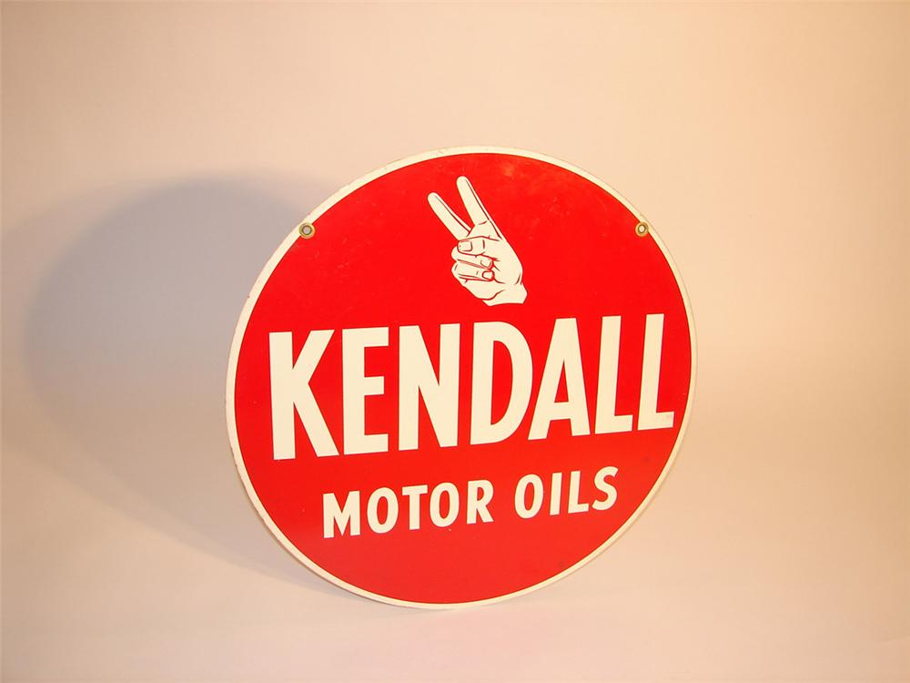 N o s late 50s early 60s kendall motor oil double sided for Kendall motor oil distributors