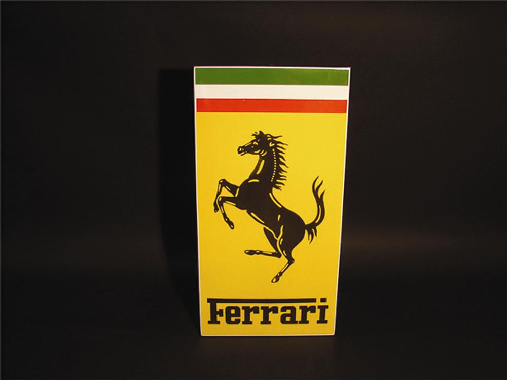 Authentic 1960s Ferrari Automobiles porcelain dealership sign. Extremely hard to find especially in this condition. - Front 3/4 - 82555