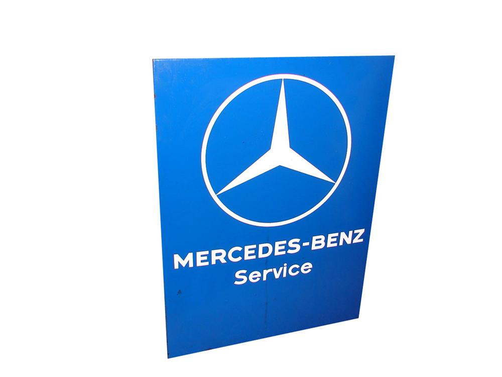 Sharp 1960s Mercedes Benz Service single-sided porcelain dealership sign. - Front 3/4 - 89348
