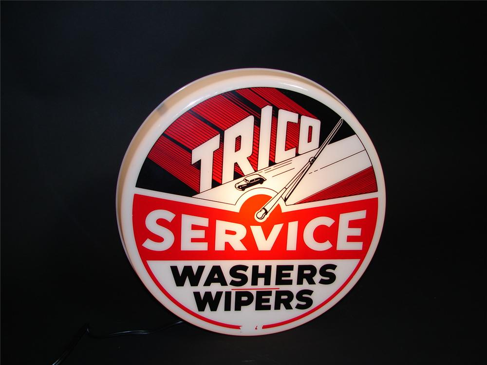 Fabulous 1950s Trico Washers-Wipers Service light up garage sign. - Front 3/4 - 89360