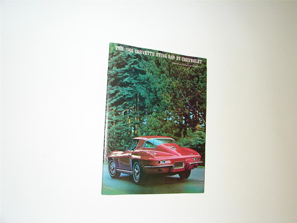 Awesome N.O.S. 1966 Corvette Sting Ray 16 page color sales brochure. - Front 3/4 - 89399