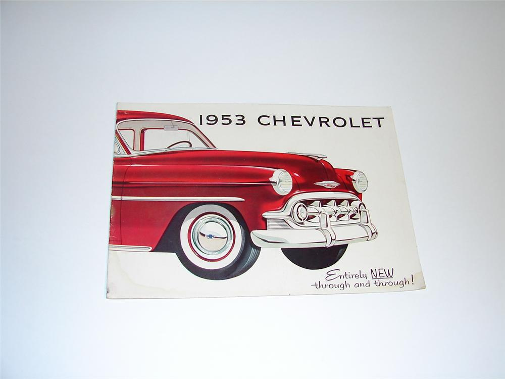 Phenomenal large N.O.S. 1953 Chevrolet 20 page color sales brochure. - Front 3/4 - 89403