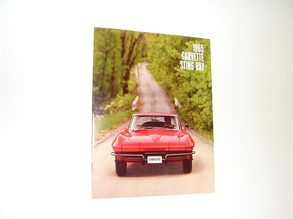 Magnificent N.O.S. 1965 Corvette Sting Ray 16 page color sales brochure. - Front 3/4 - 89410