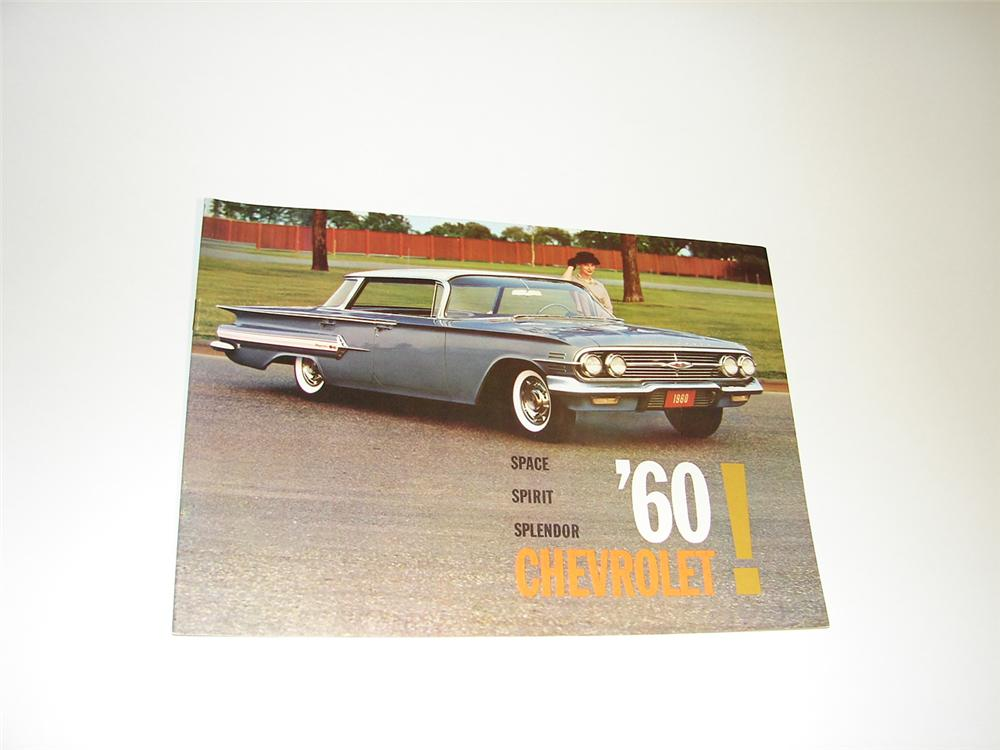 N.O.S. 1960 Chevrolet 24 page color sales brochure. - Front 3/4 - 89412