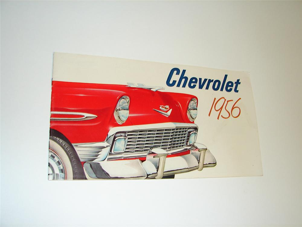 Magnificent N.O.S. 1956 Chevrolet over-sized prestige 24 page color sales brochure. - Front 3/4 - 89413
