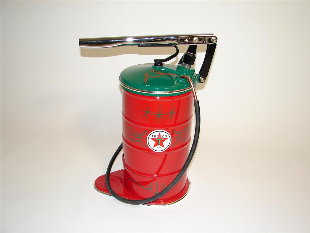 Stylish 1930s Graco Texaco Service station hand pump greaser restored beyond original. - Front 3/4 - 89435