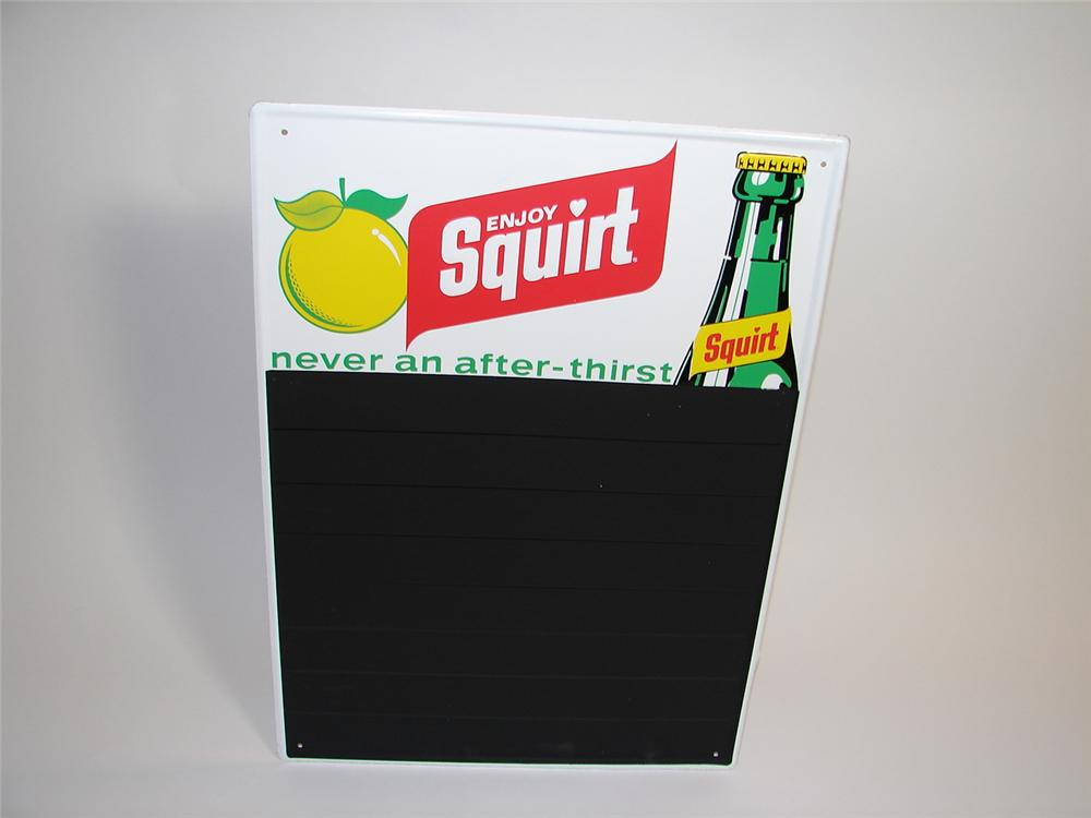 N.O.S. Squirt Soda tin embossed menu board with graphics. - Front 3/4 - 89444