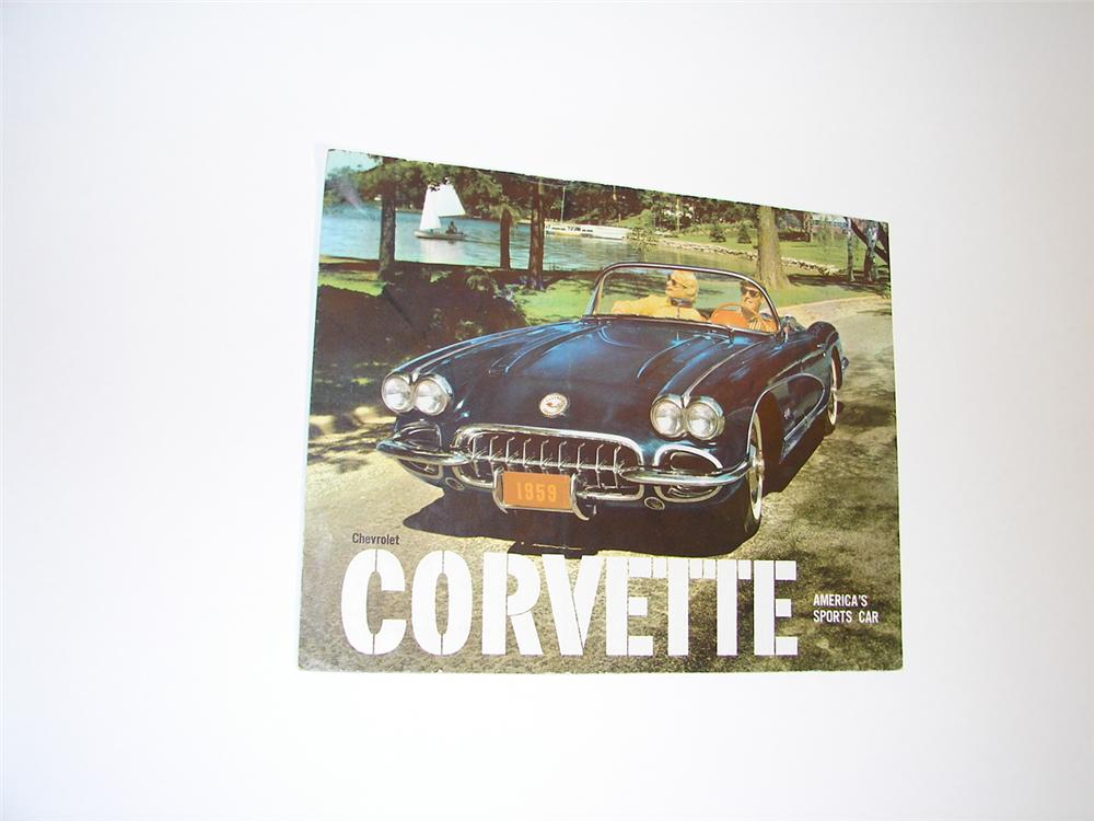 Awesome 1959 Corvette color fold-out sales brochure. - Front 3/4 - 89471