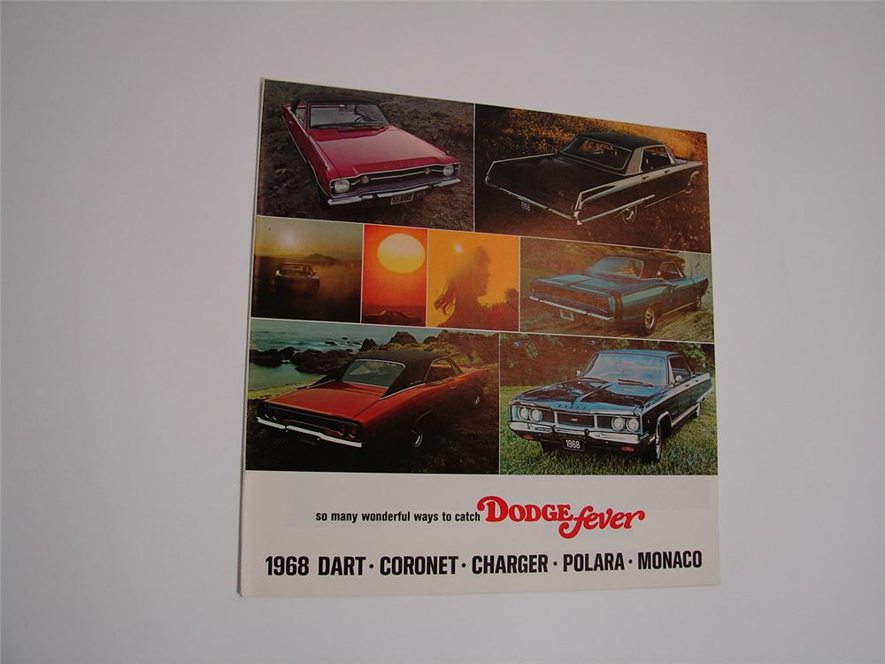N.O.S. 1968 Dodge Fever prestige 20 page color sales brochure covering Charger, Dart, Coronet, Polara, and Monaco. - Front 3/4 - 89473