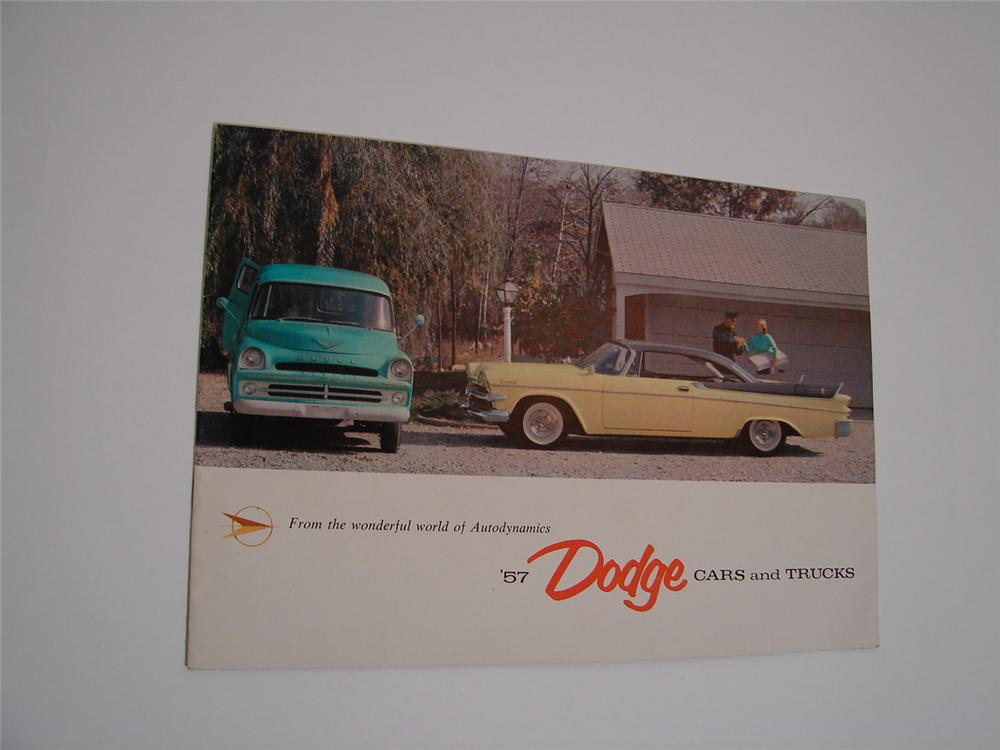 N.O.S. 1957 Dodge Cars and Trucks 12 page color sales brochure. - Front 3/4 - 89474