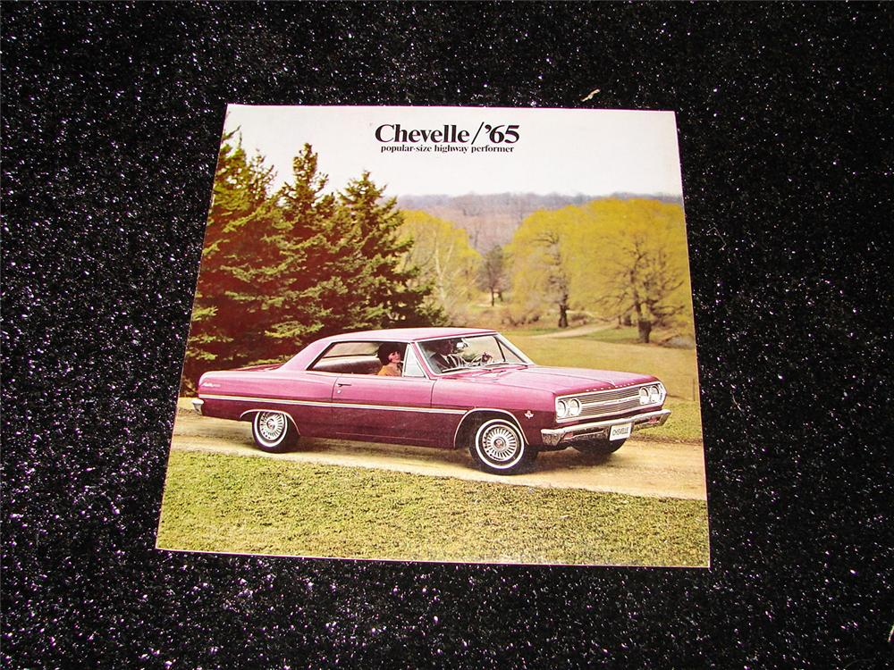 1965 Chevrolet Chevelle over-sized dealer prestige color sales brochure. - Front 3/4 - 90733