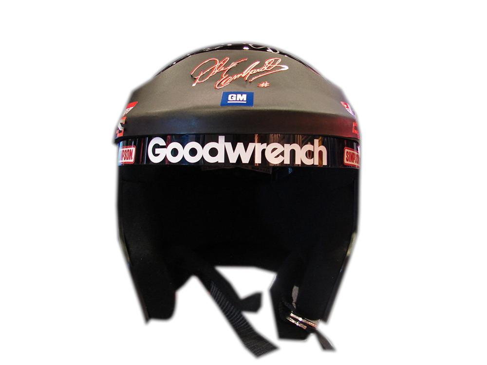 Dale Earnhardt race worn helmet autographed by Dale and the entire #3 Richard Childress Team. - Front 3/4 - 90745