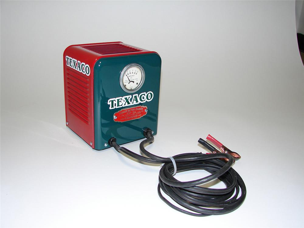 Choice 1940s Schauer battery charger restored in Texaco Service regalia. - Front 3/4 - 91263