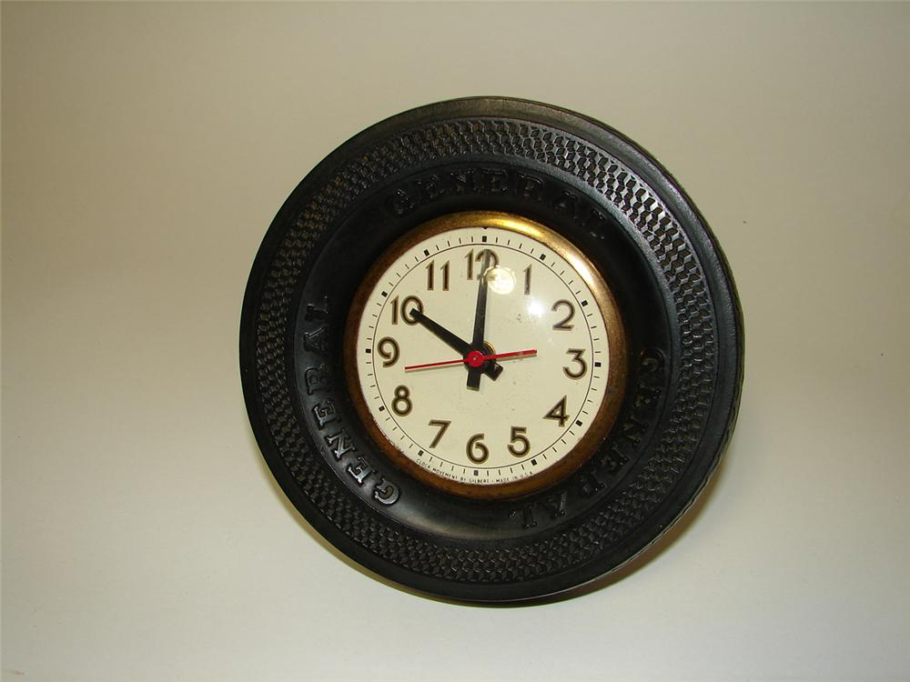 1940s General Tires garage promotional electric advertising clock. - Front 3/4 - 91328