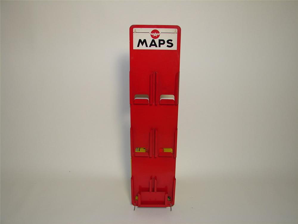 Scarce 1940s-50s Flying A Service Station road map display rack. - Front 3/4 - 91329